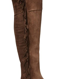 Saint Laurent - Fringed suede over-the-knee boots