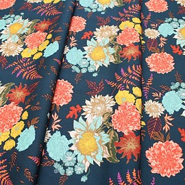 Art Gallery Fabrics - Autumn Vibes Floral Glow Twilit