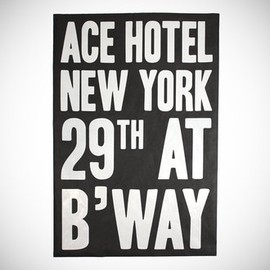 Ace Hotel - close-up photo of the Ace Hotel New York Poster