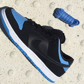 NIKE SB - Dunk Low Pro SB - Black/University Blue/White/Black