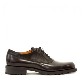 paraboot - PARABOOT MAJOR GLASS LEATHER SHOES DARK BROWN x BLACK 2013-14AW