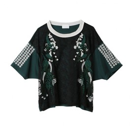 mame - Flower Motif Lace T-Shirt