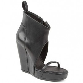 Rick Owens - リックオウエンス(Rick Owens)レザーウェッジサンダル Ruby leather wedge shoe boots 1