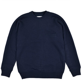 nanamica - THERMOLITE Wool Crew Neck Sweater-Navy