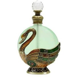 Well Jeweled Swan Perfume Bottle - CLOSEOUT