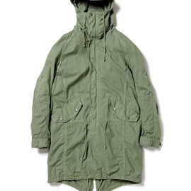 nonnative - TROOPER HOODED COAT - COTTON RIPSTOP OVERDYED