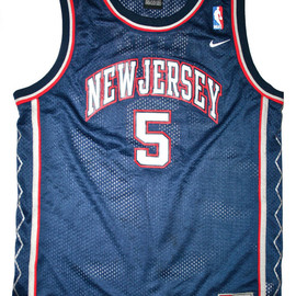 Nike - New Jersey Nets NIKE #5 Jason Kidd Jersey Size Youth Large