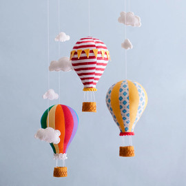 leschnulli - Hot Air Balloon Mobile - Baby Child Mobile - Custom - You Pick Fabric/Color