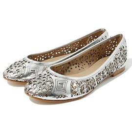 ROSE BUD - 17552 COW CALF EMBOS FLAT SHOES