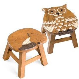 Hand Carved Wooden Stools