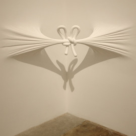 "DANIEL ARSHAM - ""Corner Knot"" 2008: EPS, plaster, paint, joint compound: 18 x 64 x 20 in"