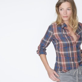 James Perse - JAMES PERSE Los Angeles     http://www.jamesperse.com/women/tops/shirts/harbour-plaid-tomboy-shirt/viewProduct.do?productId=prod1400015=cat490009