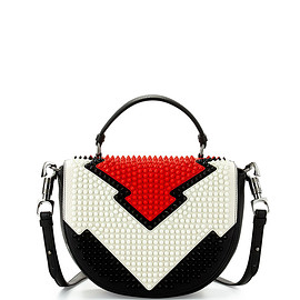 Christian Louboutin - Panettone Spiked Messenger Bag, Red/White/Black