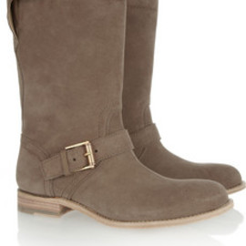 JIL SANDER - buckled brushed suede boots