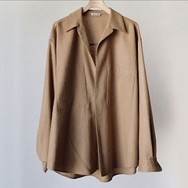 AURALEE - BABY CAMEL BIG SHIRTS(Store Limited Item)