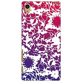 SECOND SKIN - kion 「flower violet navy」 / for Xperia Z5 SOV32/au