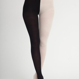 American Apparel - Opaque Two Color Pantyhose
