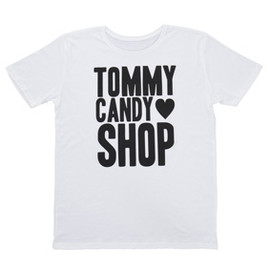 "Tommy february6 TOMMY CANDY SHOP ""RUNAWAY""  Big Tee 【WHITE】"