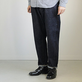 YAECA|MEN - Denim Pants - wide tapered #indigo/14oz one wash