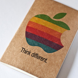 "Moleskine - Apple ""Think different."" - On Moleskine Cahier"