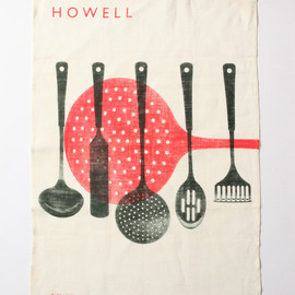MARGARET HOWELL - ROBERT WELCH TEA TOWEL RED
