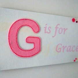 Luulla - Girls Personalised Name Plaque