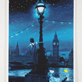 ROAMCOUCH - When you wish upon a star-London (Blue/Sepia)