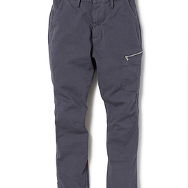 nonnative - HIKER EASY PANTS C/P MINI HERRINGBONE STRETCH OVERDYED