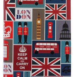 Letts - Letts Noteletts London Montage A5 Wide Ruled Notebook