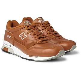 New Balance - 1500 Suede-Trimmed Leather Sneakers
