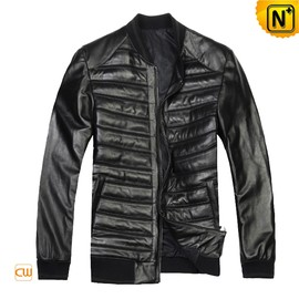CWMALLS - Designer Quilted Leather Jacket for Men CW804449