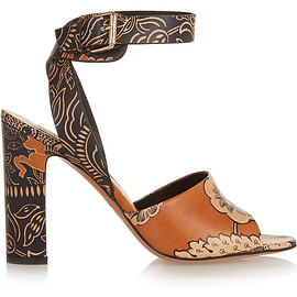 VALENTINO - SS2015 Covered printed leather sandals