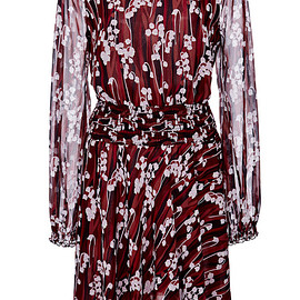 GIAMBA - Pre-Fall 2015 Red Lily Of The Valley Silk Georgette Dress