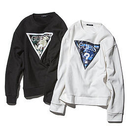 SOPHNET., GUESS - CAMOUFLAGE TRIANGLE CREW NECK SWEAT
