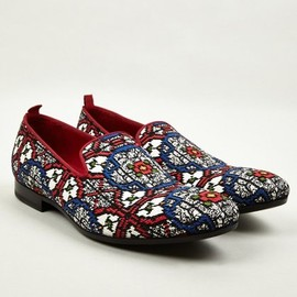 Alexander McQueen - Men's Stained Glass Woven Slip On Shoes