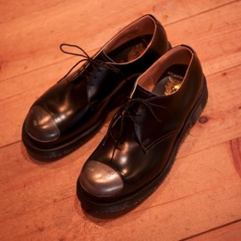 HUMAN MADE, CAUSE, GEORGE COX - steel cap shoes (bk)