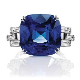 Harry Winston - Sunset by Harry Winston, Sapphire and Diamond Ring