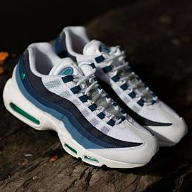 NIKE - NIKE AIR MAX 95 OG WHITE/EMERALD GREEN-COURT BLUE-NEW SLATE