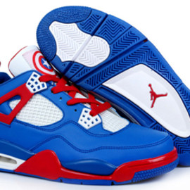 Air Jordans Sneakers Captain America Retro 4 Men Size