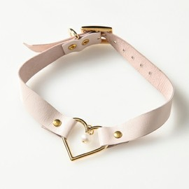 Candy Stripper - HEART RING LEATHER 2WAY CHOKER