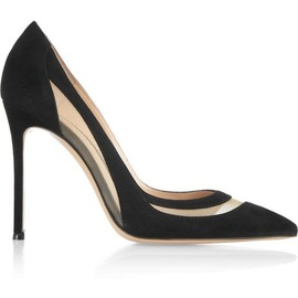 Gianvito Rossi - The Classic Pump | Gianvito Rossi | Mesh-paneled suede pumps