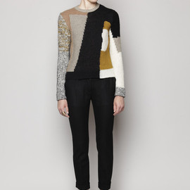 carven - pullover patchwork knit