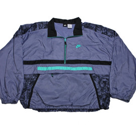 Nike - Vintage 90s Nike Purple/Black/Teal Windbreaker Jacket Mens Size XL