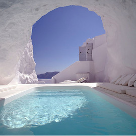 Greece - In this cave pool in Satorini, Greece.