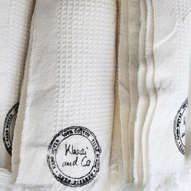 Khadi & Co - TOWEL, WHITE HONEYCOMB