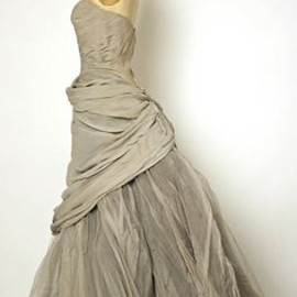 Charles James - grey silk and tulle evening dress, 1950.
