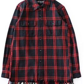 bal - Fringe Shirt (red plaid)