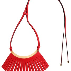 MARNI - FRINGED LEATHER NECKLACE