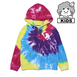 SANTASTIC! - TIE DYE ZIP HOODIE( for KIDS )