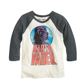 J.CREW - STAR WARS FOR CREWCUTS GLOW-IN-THE-DARK DARTH VADER BASEBALL TEE